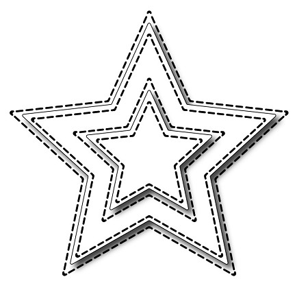 Frantic Stamper Precision Die - Small Stitched Stars
