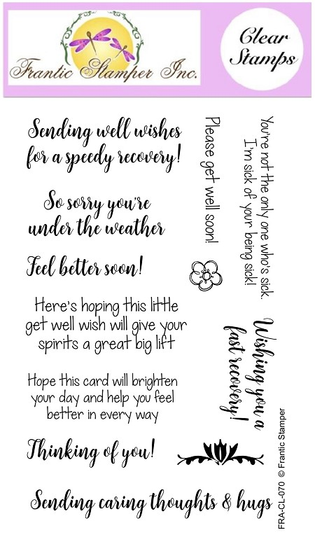Frantic Stamper Clear Stamp Set - Get Well Soon