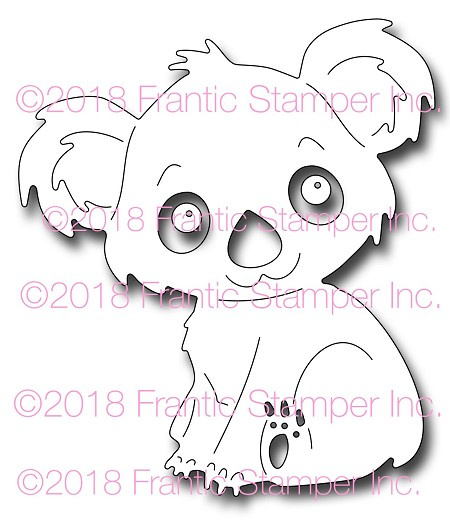 Frantic Stamper Precision Die - Kiki the Koala