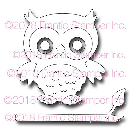 Frantic Stamper Precision Die - Ollie the Owl