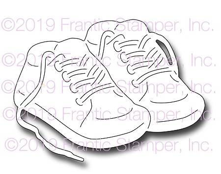 Frantic Stamper Precision Die - Baby Shoes