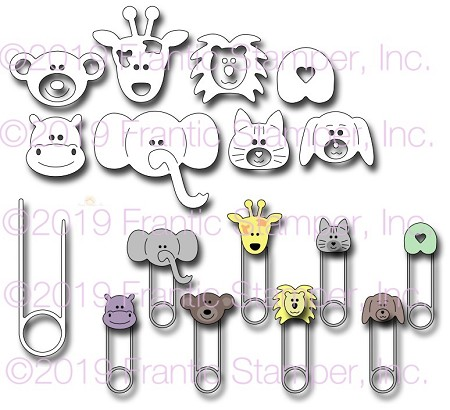 Frantic Stamper Precision Die - Nappy Pins