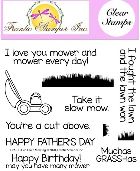 Frantic Stamper Clear Stamp Set - Lawn Mowing