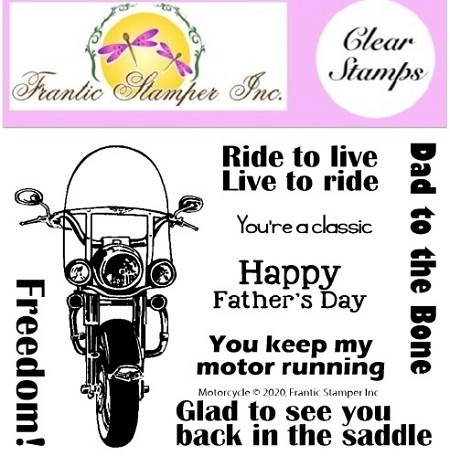 Frantic Stamper Clear Stamp Set - motorcycle