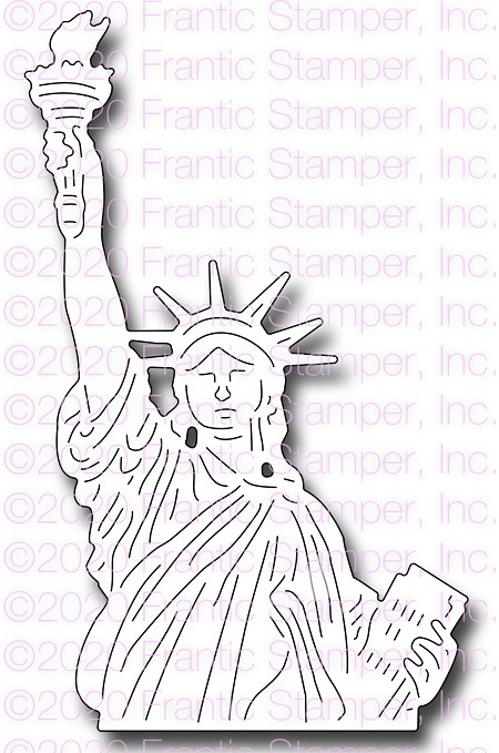 Frantic Stamper Precision Die - Statue Of Liberty Bust