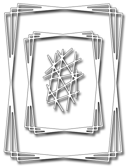Frantic Stamper Precision Die - Rectangle Tangled Frames