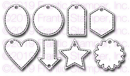Frantic Stamper Precision Die - Eight Tiny Tags