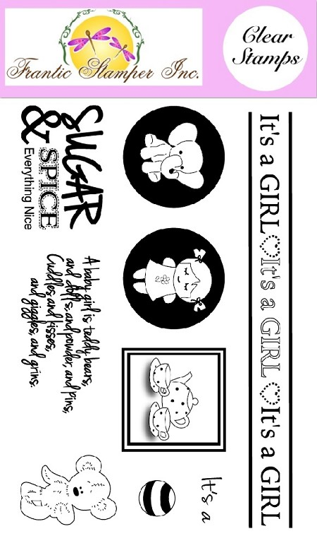 Frantic Stamper Clear Stamp Set - Baby Girl