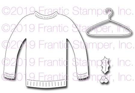 Frantic Stamper Precision Die - Cozy Sweater