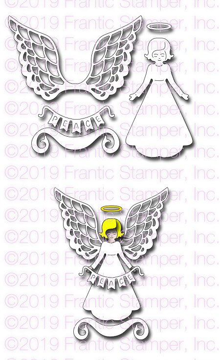 Frantic Stamper Precision Die - Lace Winged Angel