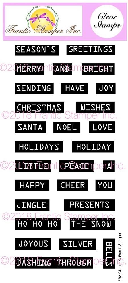 Retro Label Maker Christmas Sentiments