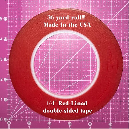 "Frantic Stamper - Red-Lined Double Sided Tape 1/4"" x 36 yds"