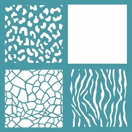 "Funky Fossil - Animal Tiles 5.7"" Stencil"