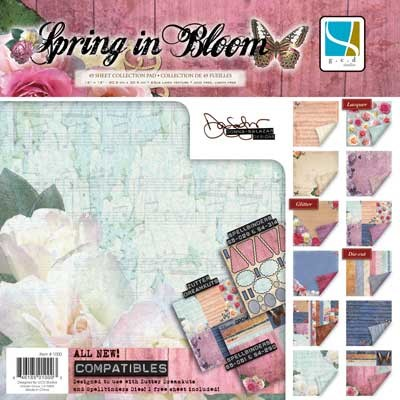 "GCD Studios - Donna Salazar 12""x12"" Collection Pad - Spring in Bloom"