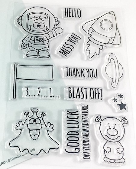 Gerda Steiner - Clear Stamps - Blast Off