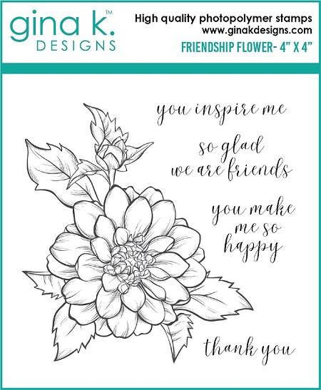 Gina K Designs Clear Stamp Friendship Flower