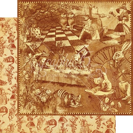 "Graphic 45 - Hallowe'en in Wonderland Collection - 12""x12"" cardstock - Curiouser and Curiouser"