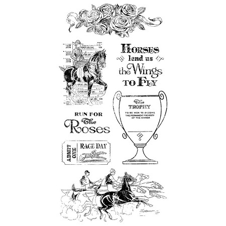 Graphic 45 - Off To The Races Collection - Cling Stamps 2  :)