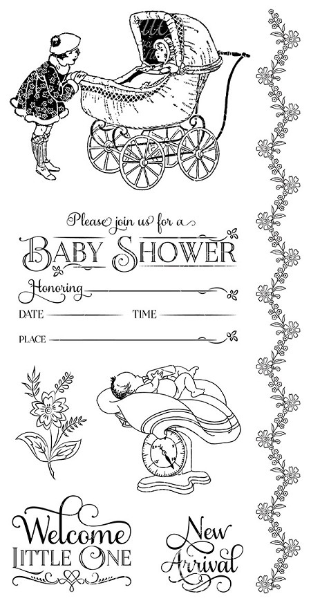 Graphic 45 - Precious Memories Collection - Cling Stamp 2  :)