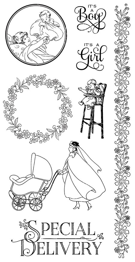 Graphic 45 - Precious Memories Collection - Cling Stamp 3 :)