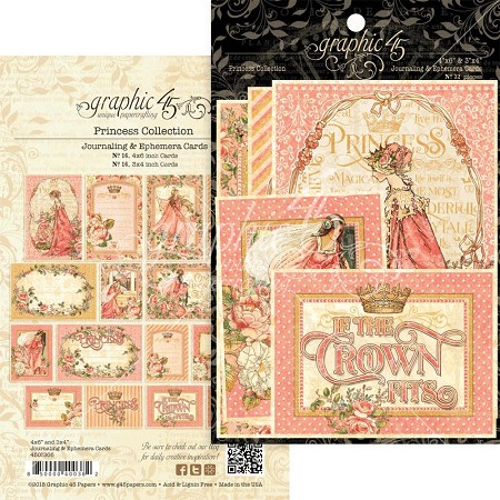 Graphic 45 - Princess Collection - Ephemera Cards
