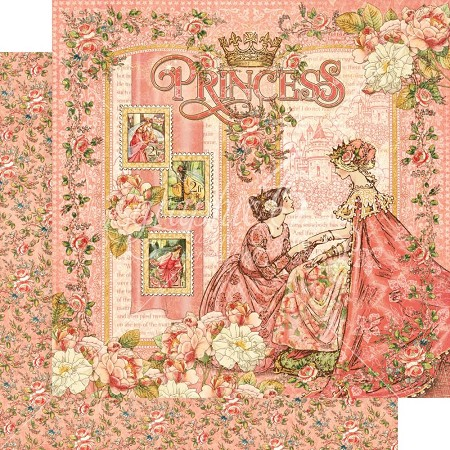 "Graphic 45 - Princess Collection - 12""x12"" cardstock - Princess"