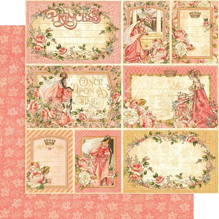 "Graphic 45 - Princess Collection - 12""x12"" cardstock - Your Highness"