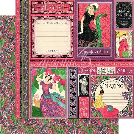 "Graphic 45 - Fashion Forward Collection - August 12""x12"" cardstock"