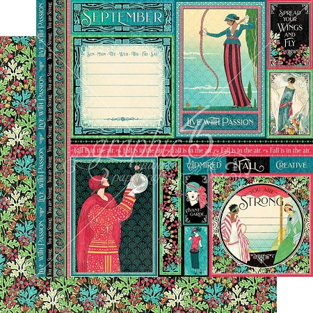 "Graphic 45 - Fashion Forward Collection - September 12""x12"" cardstock"