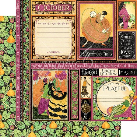 "Graphic 45 - Fashion Forward Collection - October 12""x12"" cardstock"