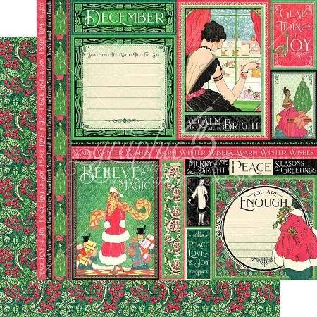 "Graphic 45 - Fashion Forward Collection - December 12""x12"" cardstock"