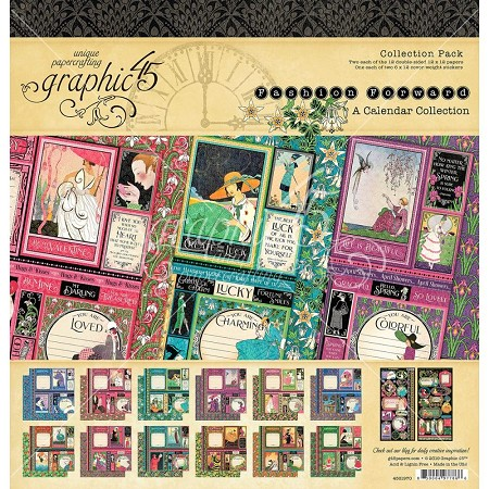 Graphic 45 - Fashion Forward Collection - 12x12 Collection Pack