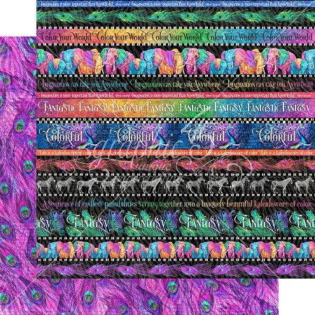 "Graphic 45 - Kaleidoscope Collection - Rainbow of Colors 12""x12"" cardstock"