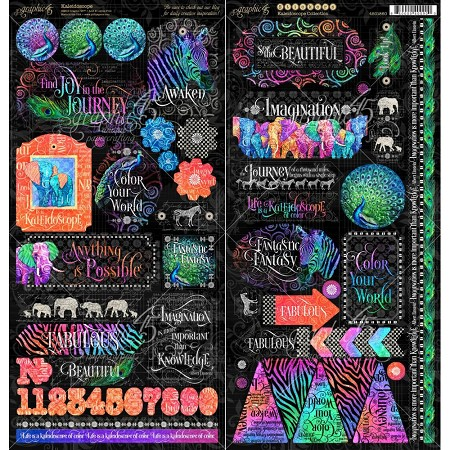 Graphic 45 - Kaleidoscope Collection - Sticker Sheet
