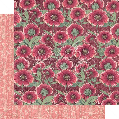 "Graphic 45 - Blossom Collection - Thrive 12""x12"" cardstock"