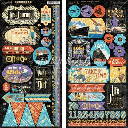 Graphic 45 - Life's A Journey Collection - Sticker Sheet