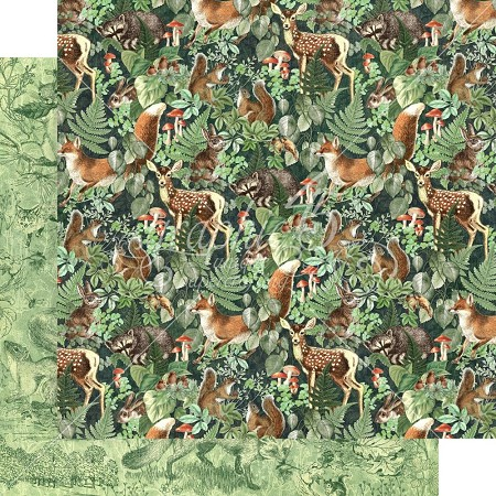 "Graphic 45 - Woodland Friends Collection - Be Wild 12""x12"" cardstock"