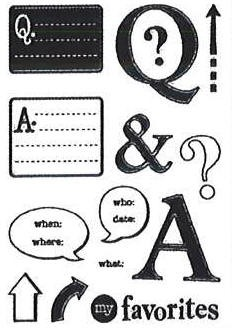 Hampton Art-4x6 Clear Stamp Set-Q & A