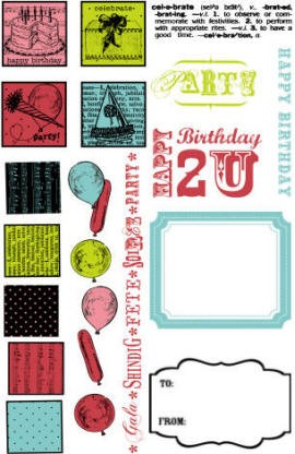 Hampton Art-Flip Flop Clear Stamp Set-Birthday
