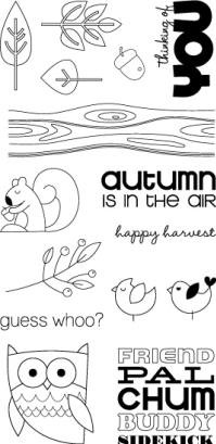 Hampton Art-4x8 Clear Stamp Set-Autumn is in the Air