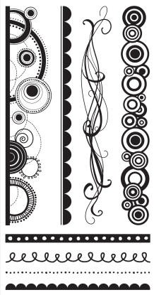 Hampton Art-4x8 Clear Stamp Set-Curvaceous Borders