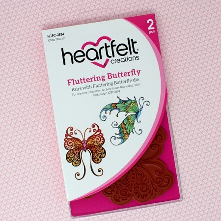 Heartfelt Creations - Butterfly Dreams Collection - Fluttering Butterfly Cling Stamp Set