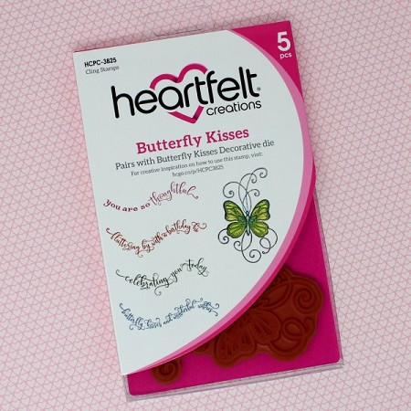 Heartfelt Creations - Butterfly Dreams Collection - Butterfly Kisses Cling Stamp Set
