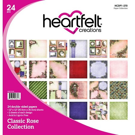 "Heartfelt Creations - 12""x12"" Paper Pad - Classic Rose Paper Collection"