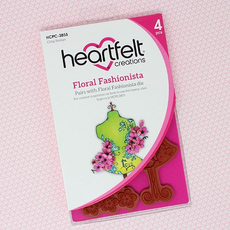 Heartfelt Creations - Floral Fashionista Collection - Floral Fashionista Cling Stamp Set