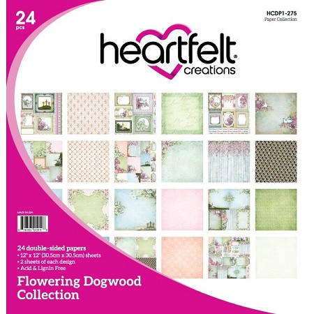 "Heartfelt Creations - 12""x12"" Paper Pad - Flowering Dogwood Paper Collection"