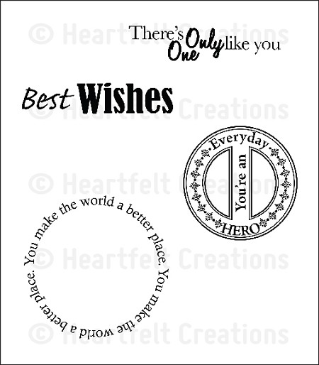 Heartfelt Creations - Everyday Heroes Collection - Cling Stamps - Everyday Hero