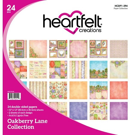 "Heartfelt Creations - 12""x12"" Paper Pad - Oakberry Lane Paper Collection"
