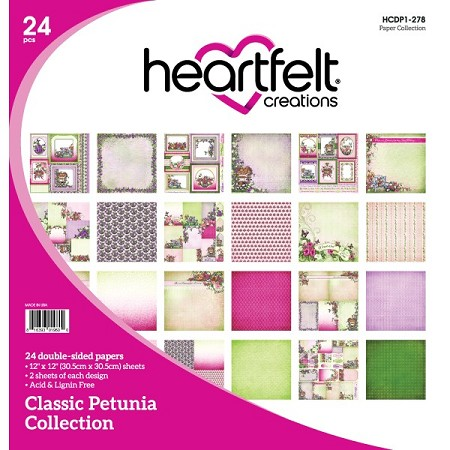 "Heartfelt Creations - 12""x12"" Paper Pad - Classic Petunia Paper Collection"