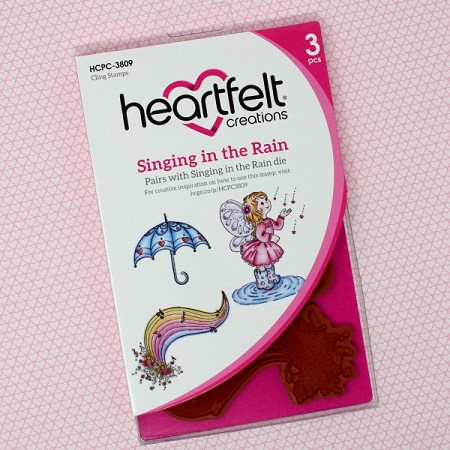 Heartfelt Creations - Singing In The Rain Collection - Singing In The Rain Cling Stamp Set
